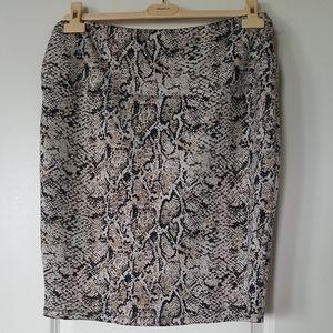 Animal Print Skirt (L)